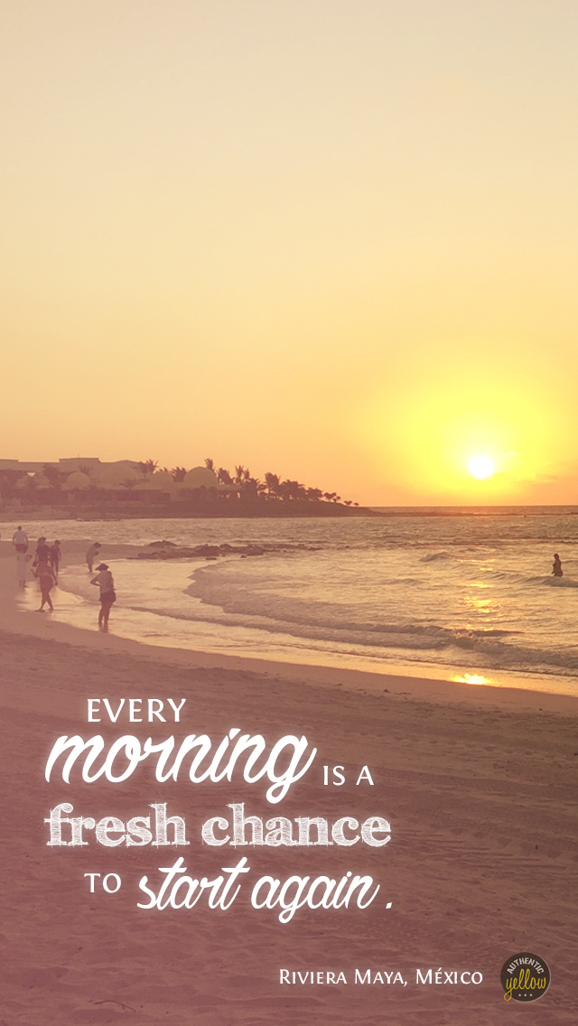 Every morning is a fresh chance to start again. - Smartphone wallpaper (iphone 5 size)