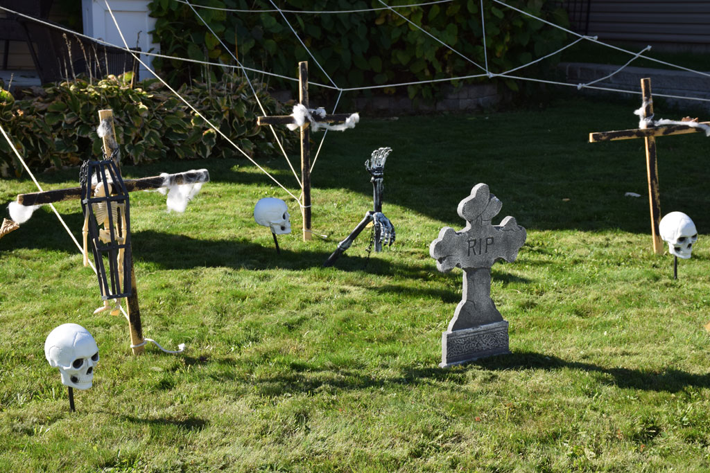 Home made Halloween Cemetary