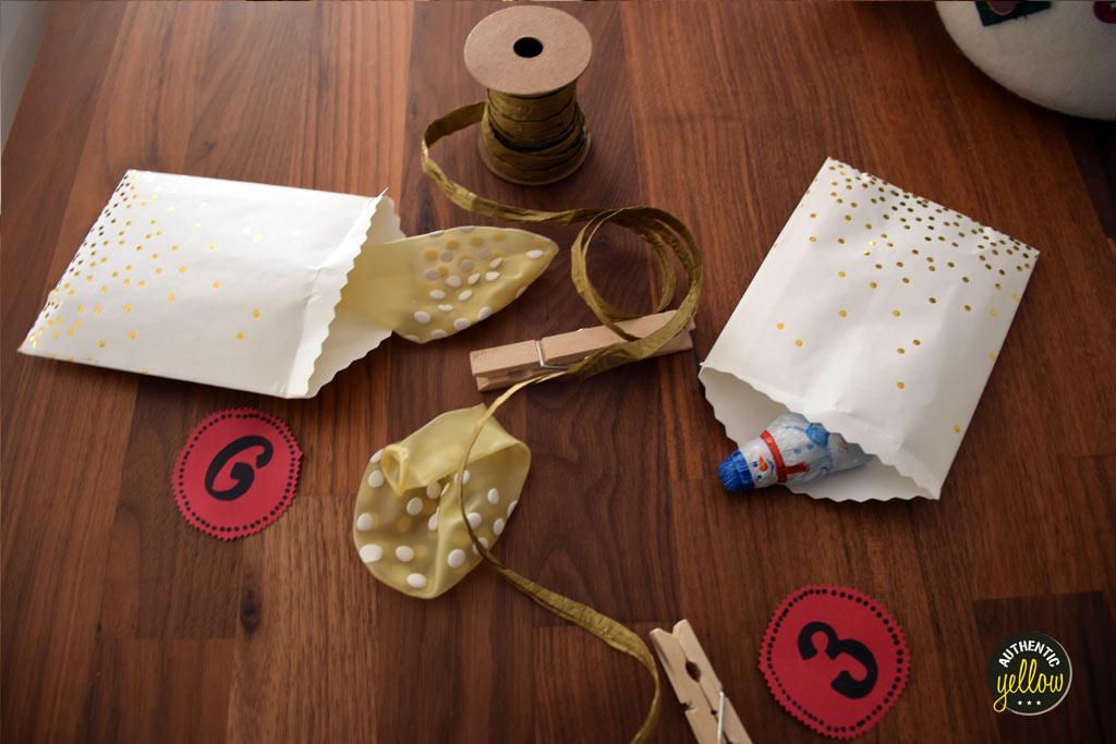 Materials for the DIY advent calendar