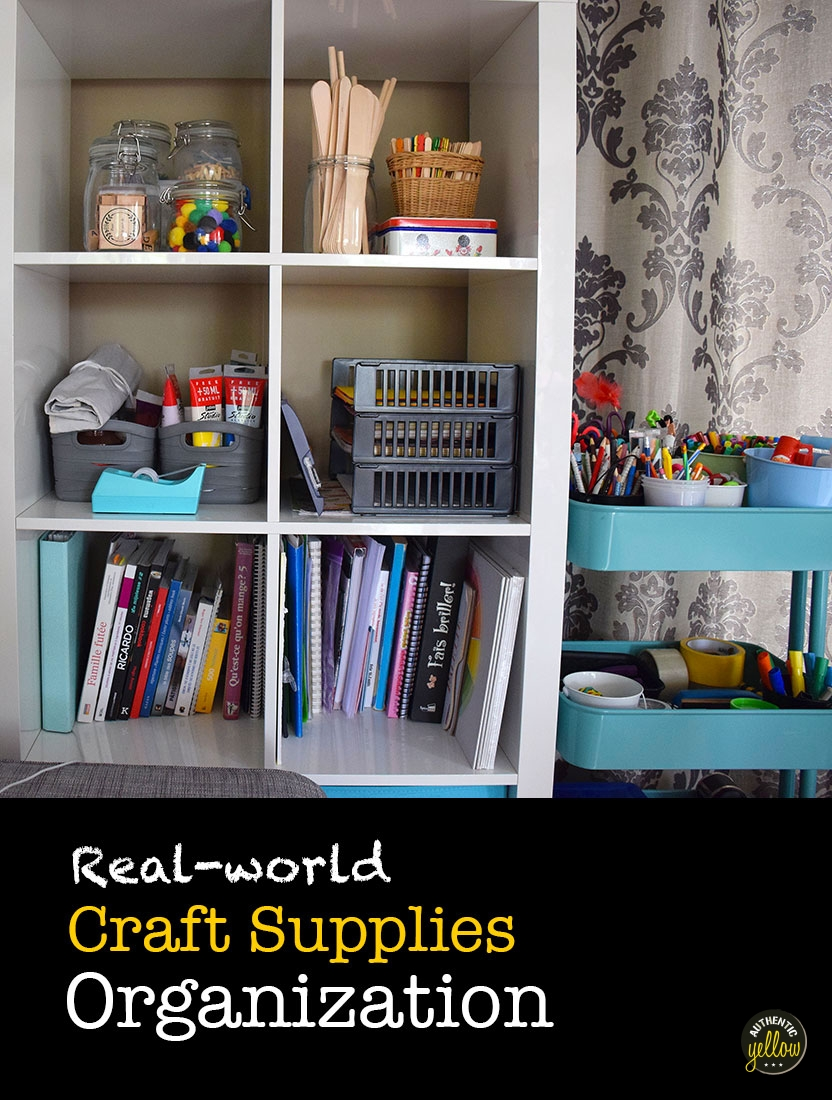 Craft supplies organization