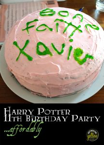 Harry Potter 11th birthday party... affordably