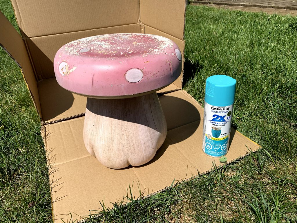 Peinture aérosol pour les meubles de jardin