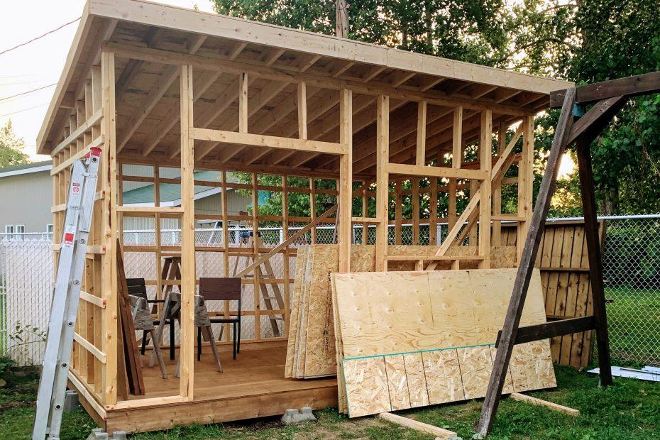 Cabanon en construction - Remise - Coût / Prix - Matériaux
