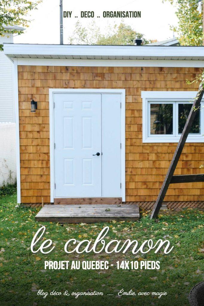 Cabanon 14 par 10 pieds, lean-to, avec bardeaux de cèdre
